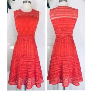 Chelsea & Violet Crochet Lace Coral February Dress